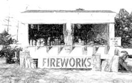 Sketch firecracker stand